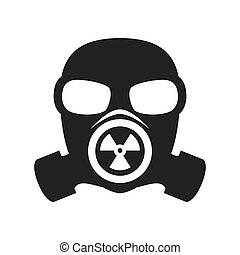 gazowa maska, jądrowy