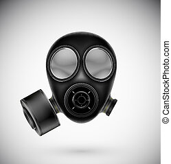 gazowa maska, odizolowany