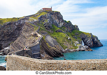 gaztelugatxe landscape, basque country, spain
