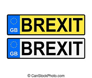 GB Brexit Number Plates