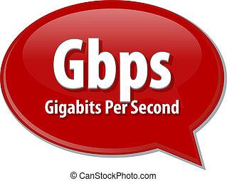 Gbps acronym definition speech bubble illustration - Speech...
