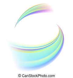 Consisting of streamlines 3colors abstract background material. It's vector art so it's easy to edit.