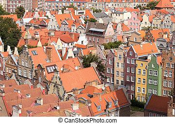 gdansk, cidade, polônia