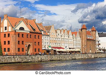 gdansk, cidade velha, em, polônia