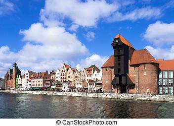 gdansk, cidade velha, polônia