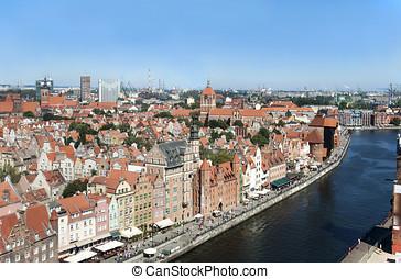 gdansk, cidade velha, skyline