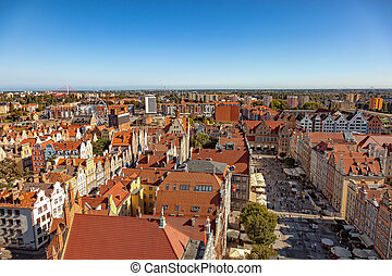 Gdansk city panoramic view