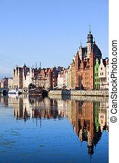 Gdansk, Polônia, antigas, cidade