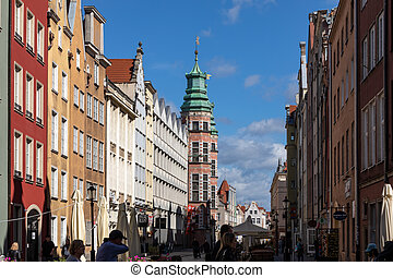 Tkacka street at the Main Town (Old Town) in Gdansk