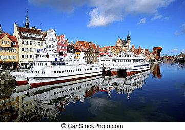 gdansk, porto, polônia