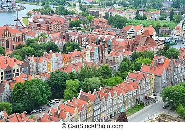 gdansk, vista cidade