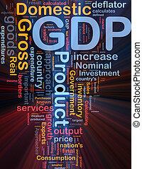 gdp, økonomi, baggrund, begreb, glødende