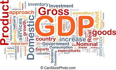 gdp, økonomi, baggrund, begreb