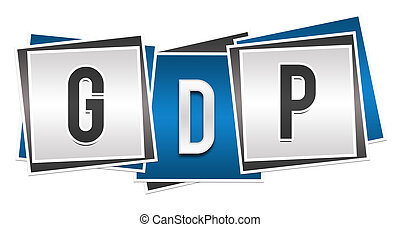 GDP Blue Grey Blocks