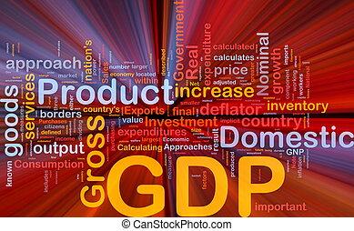 gdp, gloeiend, concept, achtergrond, economie
