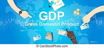gdp gross domestic product illustration financial economy graphic background world map