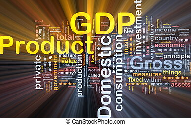 GDP is bone background concept glowing - Background concept...