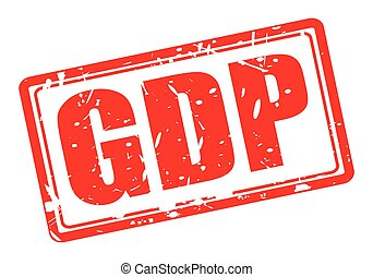 GDP red stamp text on white