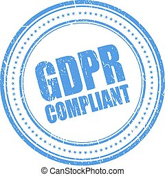 Gdpr compliant vector stamp on white background
