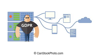 GDPR concept illustration. General Data Protection...