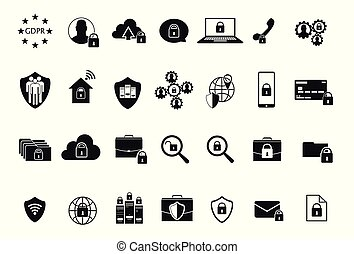 GDPR Data Privacy icons - General Data Protection...