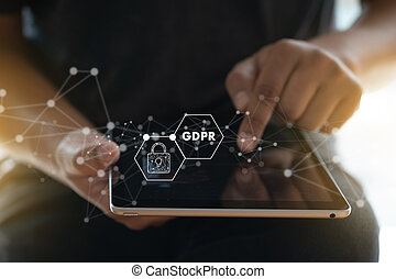 GDPR. Data Protection Regulation IT technologist Data...