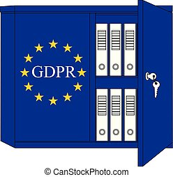 GDPR (English) - General Data Protection Regulation concept
