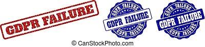 GDPR FAILURE Grunge Stamp Seals