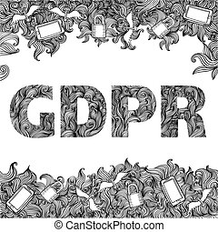 GDPR - General Data Protection Regulation doodle drawing