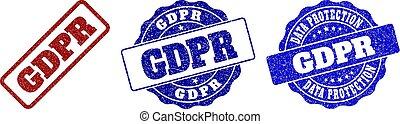 GDPR Grunge Stamp Seals