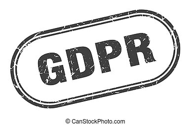gdpr stamp. rounded grunge textured sign. Label