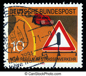 new road traffic regulations - GDR (EAST GERMANY) - CIRCA...