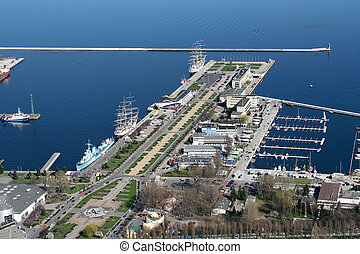 gdynia, cidade, porto