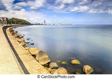 gdynia, costa mar, polônia