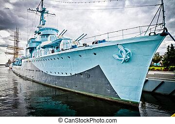 gdynia, navio guerra