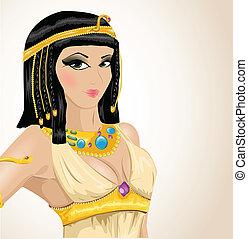 geïllustreerd, cleopatra