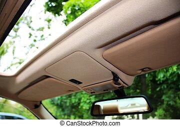 geöffnet, auto, dach