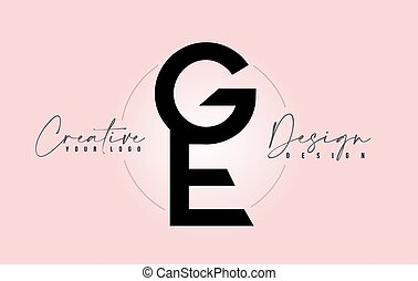 ge, icône, autre, lettres, logo, conception, une, sommet, ...