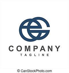 ge, logo, g, ec, eg, simple, initiales, compagnie