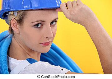 ge sig, anläggningsarbetare, hälsning