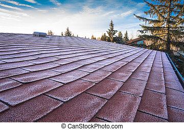 geada, telhado