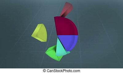 geanimeerd, gekleurde, grafieken