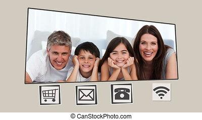 geanimeerd, interface, over, families