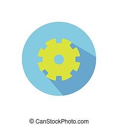 gear., 明るい, 円, 白い背景