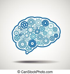 gear., 脳, intellige., 人工