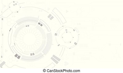 Gear abstract technology white background