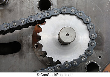 gear and chain machine part