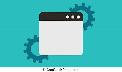 gear and tab window icons - gears and tab window icons...