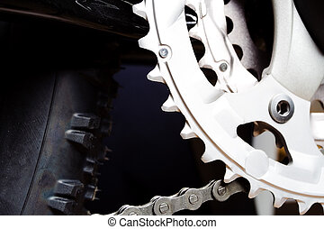 Gear and tire of mountain bike - Mountain bike's gear and ...