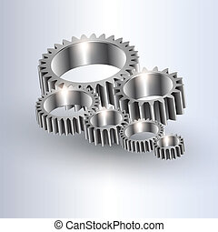 gear background. - Vector metal gear background. Abstract...